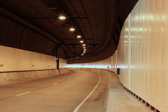 Empty Tunnel. An empty urban tunnel, destination unknown royalty free stock image