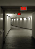 Empty tunnel. Long corridor between two buildings in downtown Montreal, Quebec, Canada. Camera: Nikon D-200, Lens: nikkor 50mm stock images