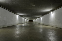 Empty tunnel Stock Photo