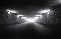 Empty tunnel with light Stock Photography