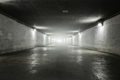 Empty tunnel with light Royalty Free Stock Photography