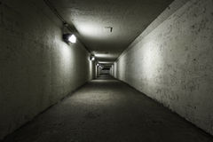 Empty tunnel at night Royalty Free Stock Photography