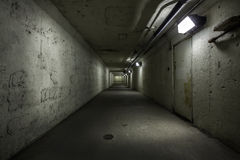 Empty tunnel at night Stock Image