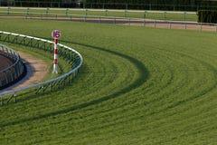 Turf Horse Racing Track. Empty turf horse racing track Royalty Free Stock Photos