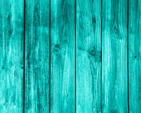 Empty turquoise wooden background. Royalty Free Stock Photography
