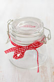 Empty two glass jars on white background Stock Image
