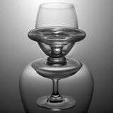 Empty two glass vertical Stock Photos