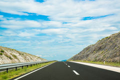 Empty two-lane highway Stock Images