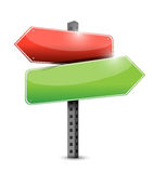 Empty two way road sign illustration design Royalty Free Stock Photo