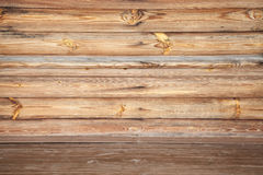 Empty uncolored wooden interior, background texture Stock Photography