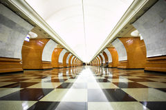 Empty undeground station Royalty Free Stock Images