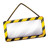 An empty under construction sign Stock Images