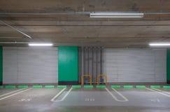 Empty underground car parking lot Stock Images