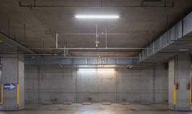 Empty underground car parking lot Royalty Free Stock Image