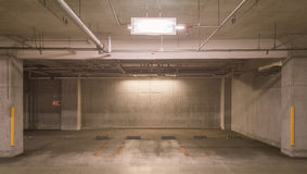 Empty underground car parking lot Royalty Free Stock Images
