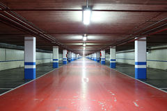 Empty underground garage Stock Photo