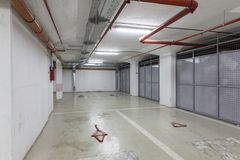 Empty underground garage. In the city royalty free stock images