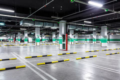 Empty underground parking Royalty Free Stock Images