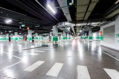 Empty underground parking stock images