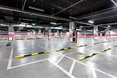 Empty underground parking. In airport Stock Image