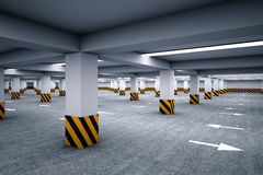 Empty underground parking area Stock Image
