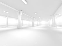 Empty underground parking area 3D rendering Royalty Free Stock Photos