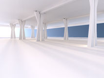 Empty underground parking area 3D rendering Stock Photos