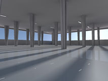 Empty underground parking area 3D rendering Stock Photo