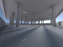 Empty underground parking area 3D rendering Stock Photography