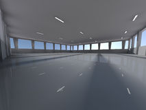 Empty underground parking area 3D rendering Royalty Free Stock Image