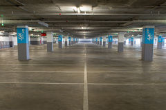 Empty underground parking background with copy space Royalty Free Stock Photography