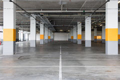 Empty underground parking background with copy space Royalty Free Stock Image