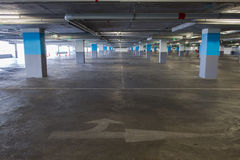 Empty underground parking background with copy space Royalty Free Stock Photo