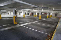 Empty underground parking background. Inside building Royalty Free Stock Image