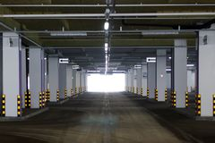 Empty underground Parking Royalty Free Stock Images