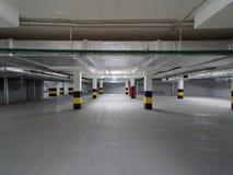Empty underground parking. Stock Photo