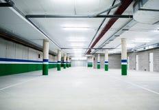 Empty underground parking garage. Empty garage Stock Photos