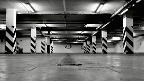 Empty underground parking garage Royalty Free Stock Image