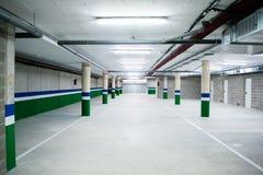 Empty underground parking garage. Empty garage Stock Photo