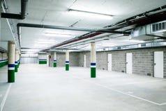 Empty underground parking garage. Empty garage Royalty Free Stock Image