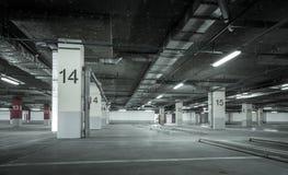 Empty underground parking garage Royalty Free Stock Image