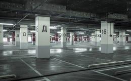 Empty underground parking garage Stock Photography