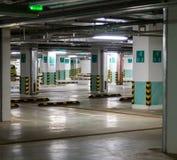 Empty underground parking garage Royalty Free Stock Photos
