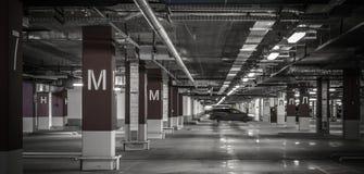 Empty underground parking garage Royalty Free Stock Photo