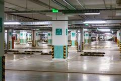 Empty underground parking garage Stock Images