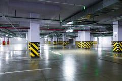 Empty underground parking garage Royalty Free Stock Photography
