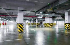 Empty underground parking garage. Industrial background Royalty Free Stock Photos