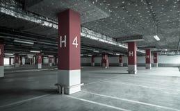 Empty underground parking garage. Industrial background Royalty Free Stock Photo