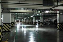 Empty underground parking garage. Industrial background Stock Image