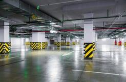 Empty underground parking garage. Industrial background Royalty Free Stock Image